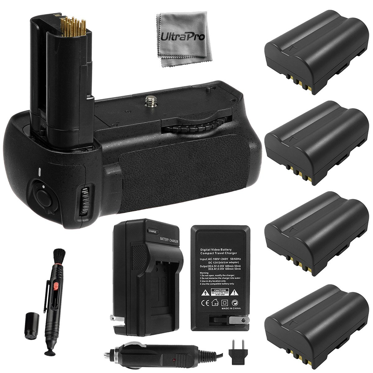 Ultra Pro Battery Grip Bundle F_ Nikon D90 Camera: UltraP...