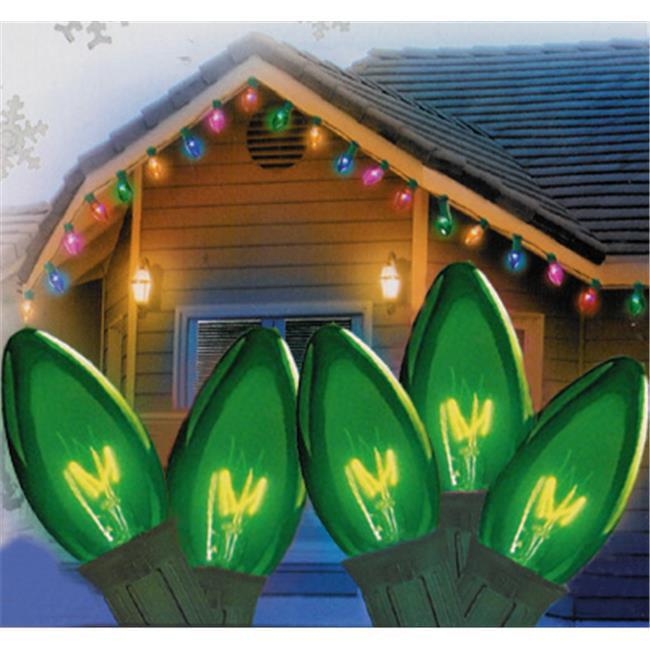 Northlight Seasonal 31742382 Transparent Green C9 Christmas Lights