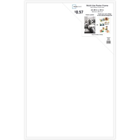 mainstays 22 x 34 white poster frame. Black Bedroom Furniture Sets. Home Design Ideas