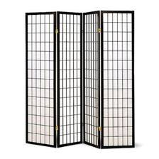 Legacy Decor 4 Panel Japanese Oriental Style Room Screen Divider Black (Oriental Wood Screen)