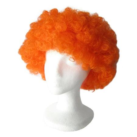 SeasonsTrading Economy Orange Afro Wig - Halloween Costume Party Wig