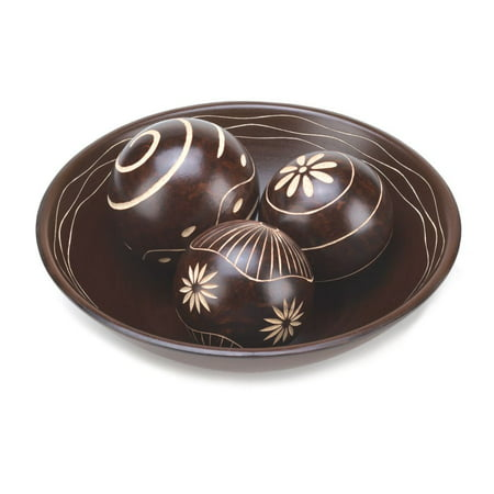 Decorative Orbs For Bowls.Decorative Balls Set 3 Orbs Decorative Balls Sets Decorative Ball Bowl Wood