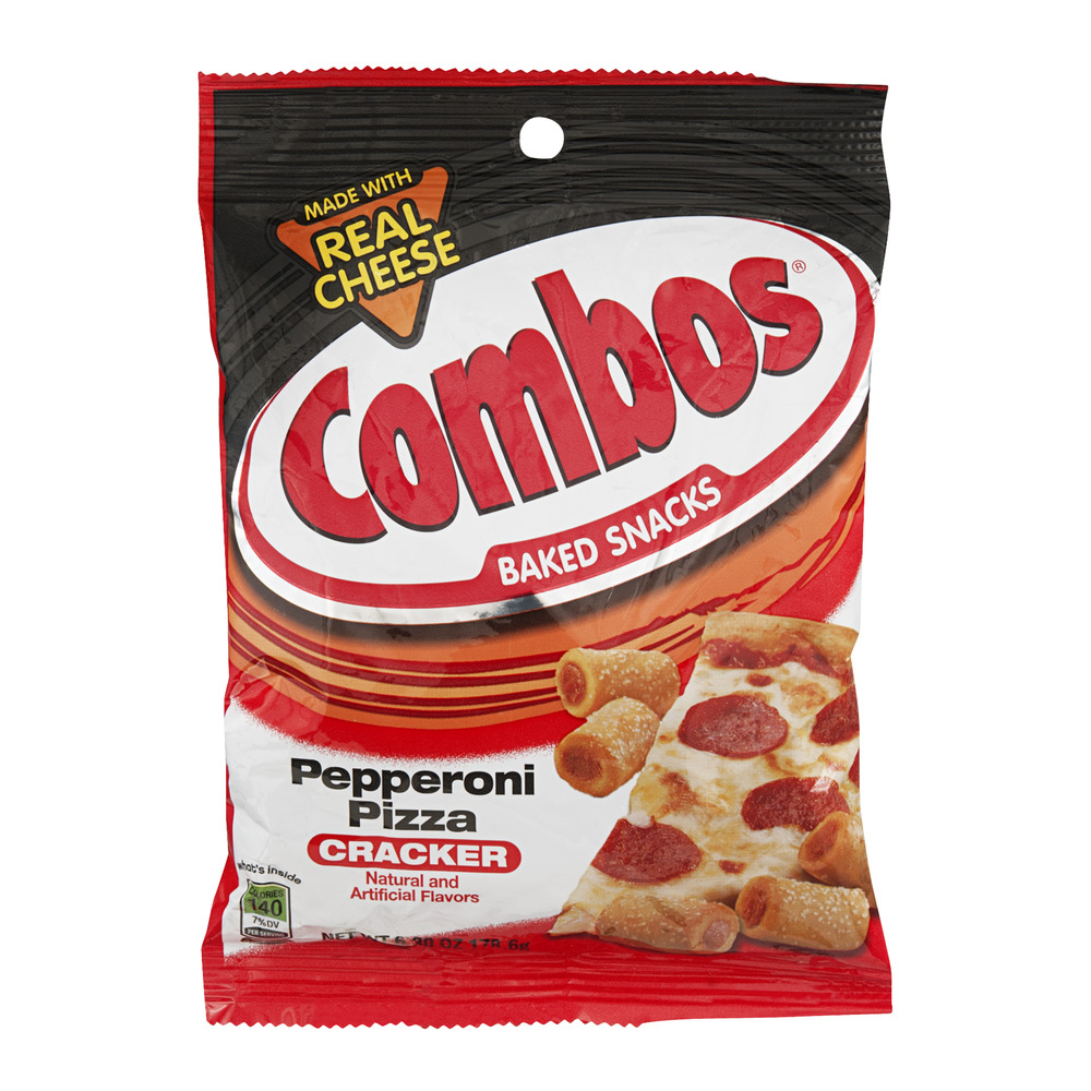 Combos Baked Snacks Pepperoni Pizza Cracker, 6.3 OZ
