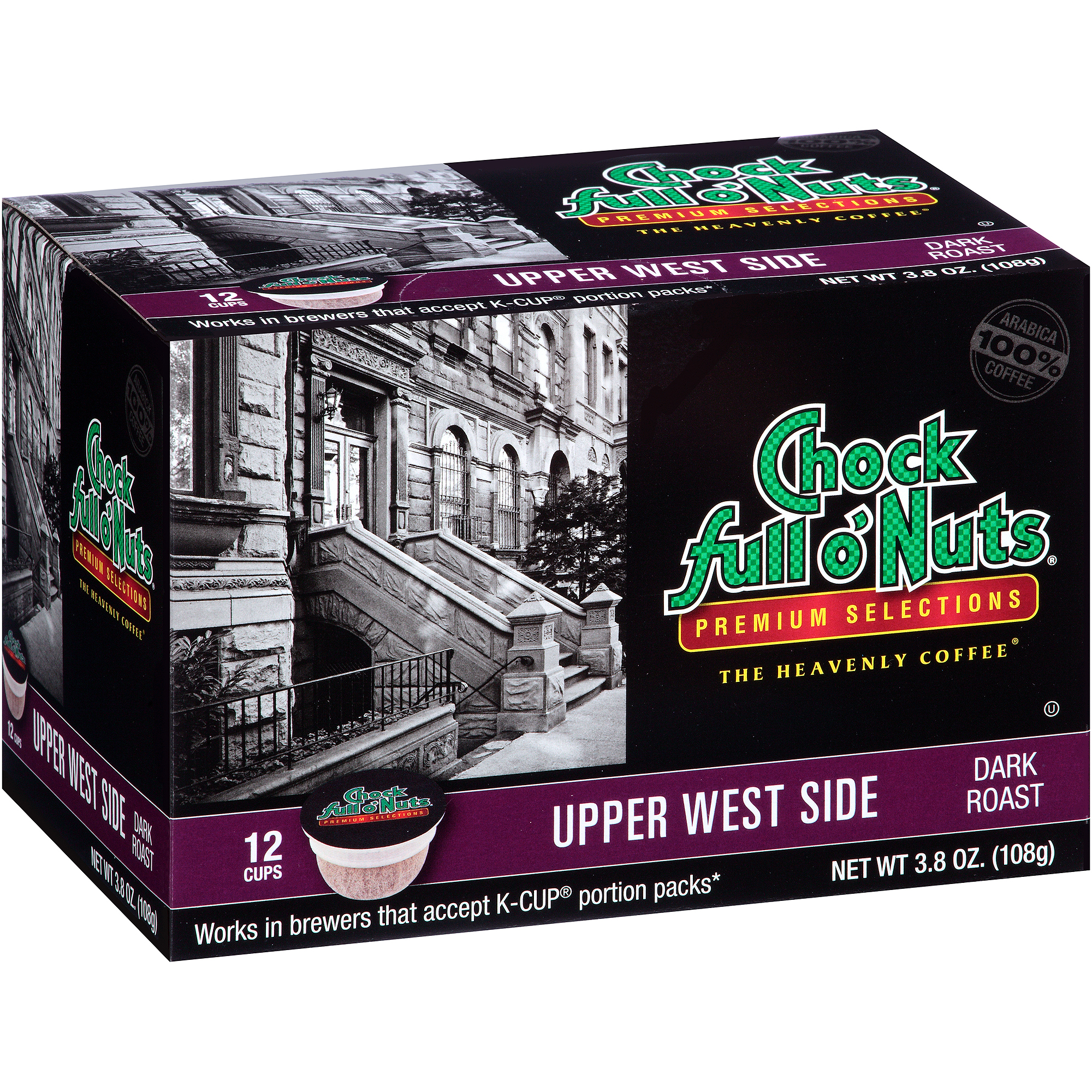 Chock Full o'Nuts Upper West Side Coffee Single Serve Cups, 12 count, 3.8 oz