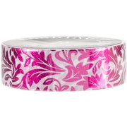 Love My Tapes Foil Washi Tape 15mmx10m-Pink Floral