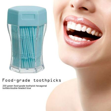200PCS/SET Double Head Tooth Floss Dental Floss Plastic Interdental Toothpick - image 4 of 5