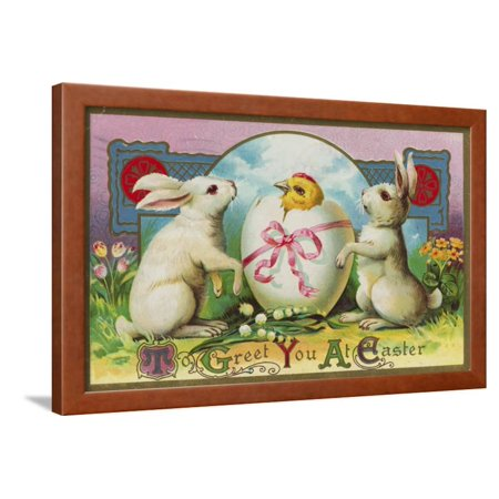 To Greet You at Easter Postcard Framed Print Wall (Mi Postcard)