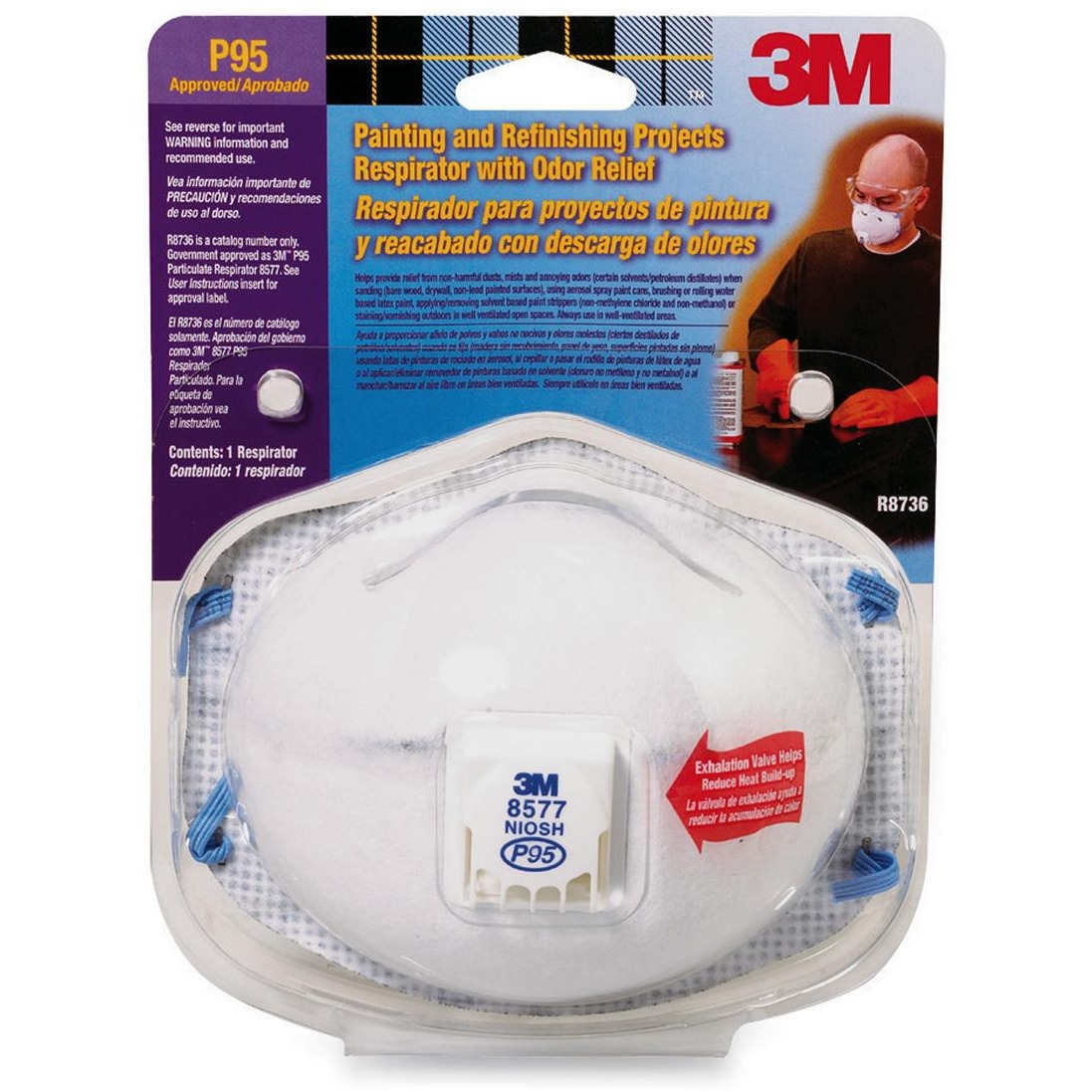 3M Advanced Filter Relief Respirator, White, 1 / Pack (Quantity)