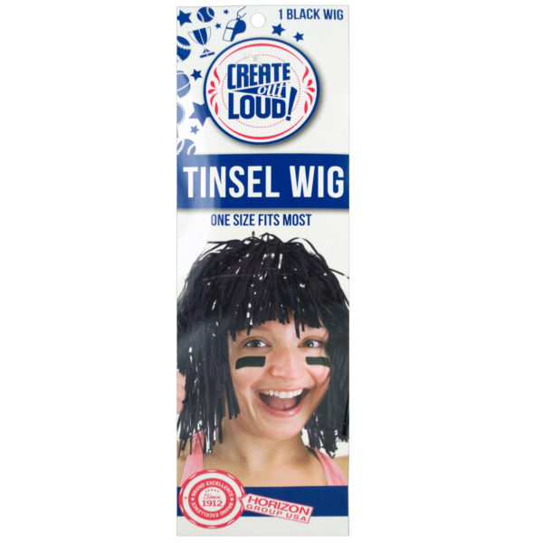 Black Tinsel Wig (Lot of 36)