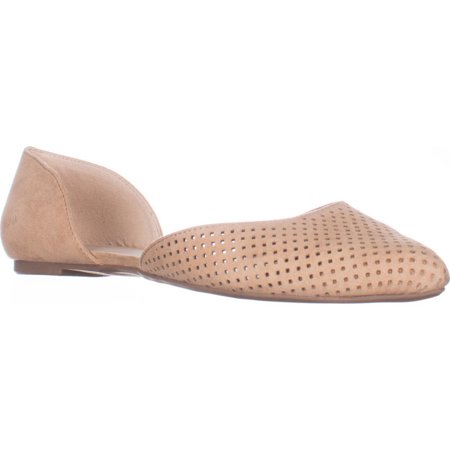 Womens B35 Luna Perforated Pointed Toe Flats - Dark Croissant (Laura Roll)