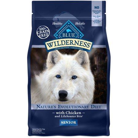 Blue Buffalo Wilderness High Protein Grain Free, Natural Senior Dry Dog Food, Chicken 4.5-lb