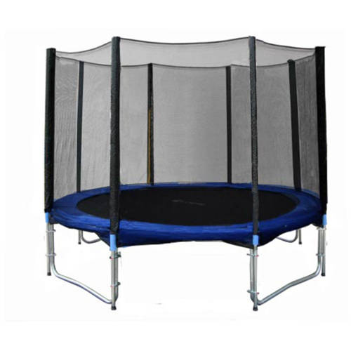 ExacMe 10-Foot Trampoline, with Safety Enclosure, Blue