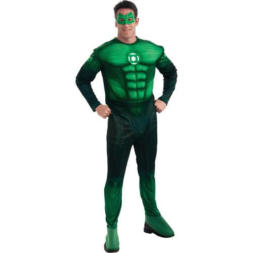 Green Lantern Hal Jordan Deluxe Muscle Chest Adult Halloween Costume