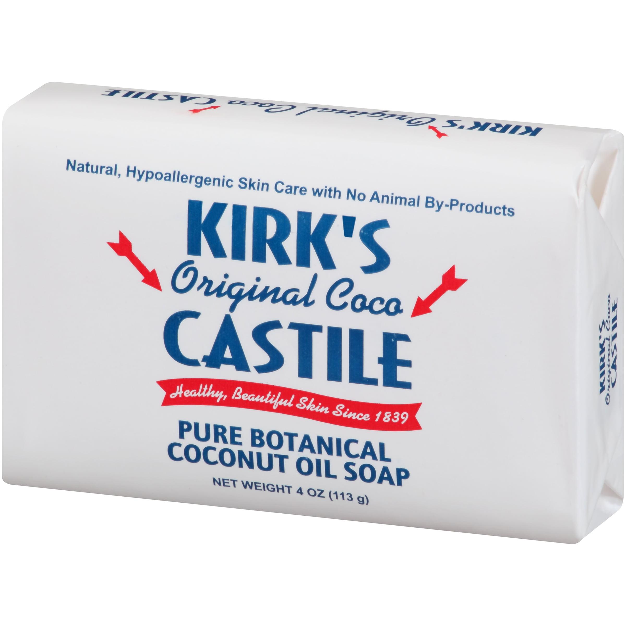 Kirk\'s Original Coco Castile Coconut Oil Soap, 4.0 OZ - Walmart.com