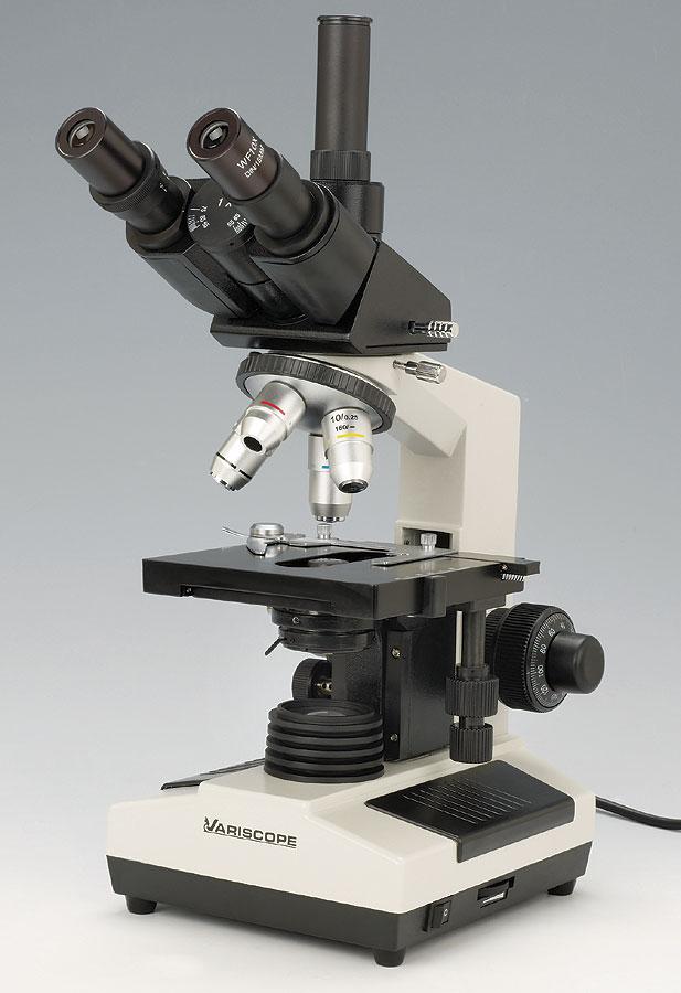 Advanced Trinocular Biological Compound Microscope, 40x-1600x by Variscope
