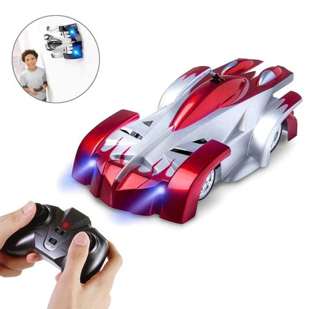 LNKOO Wall Climbing RC Cars, USB Rechargeable Remote Control Car Toys, Dual Mode Race Car for Floor or Wall, 360°Rotating Stunt + LED Lights - Best Gift for Kids and Adults