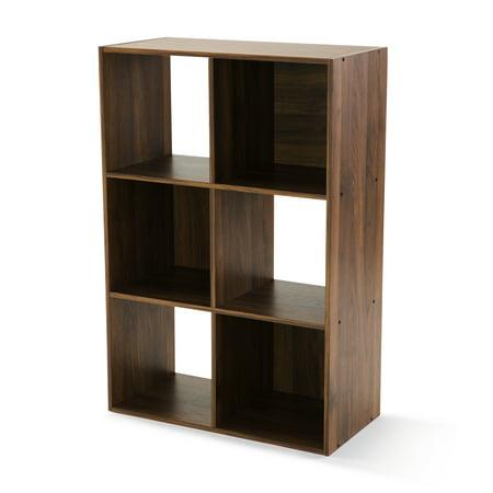 Mainstays 6 Cube Storage Organizer, White