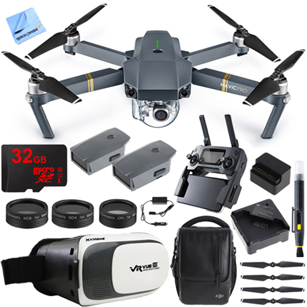 DJI Mavic Pro Quadcopter Drone Fly More Combo Pack with 4K Camera and Wi-Fi , 3 Batteries... by DJI
