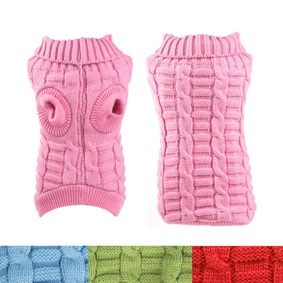 Small Dog Clothes Puppy Pet Cat Warm Sweater Knit Coat Winter Apparel Costumes
