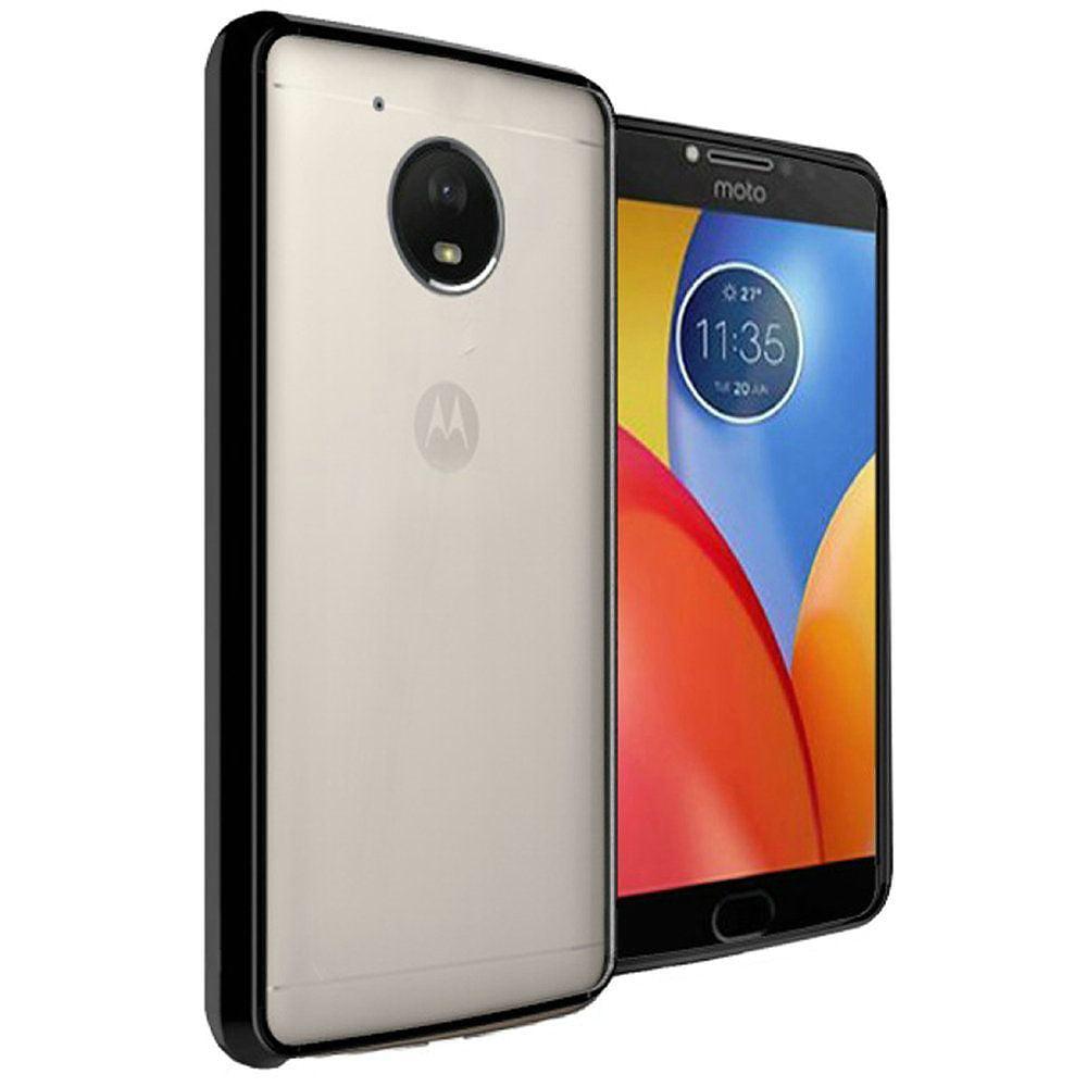 Motorola Moto E4 Plus Case, by Insten Bumper Hard Plastic/Soft TPU Rubber Case Cover For Motorola Moto E4 Plus, Clear/Teal - image 1 of 3