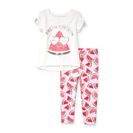 Summer Legging Outfits (Watermelon Legging Set (Baby Girls & Toddler)