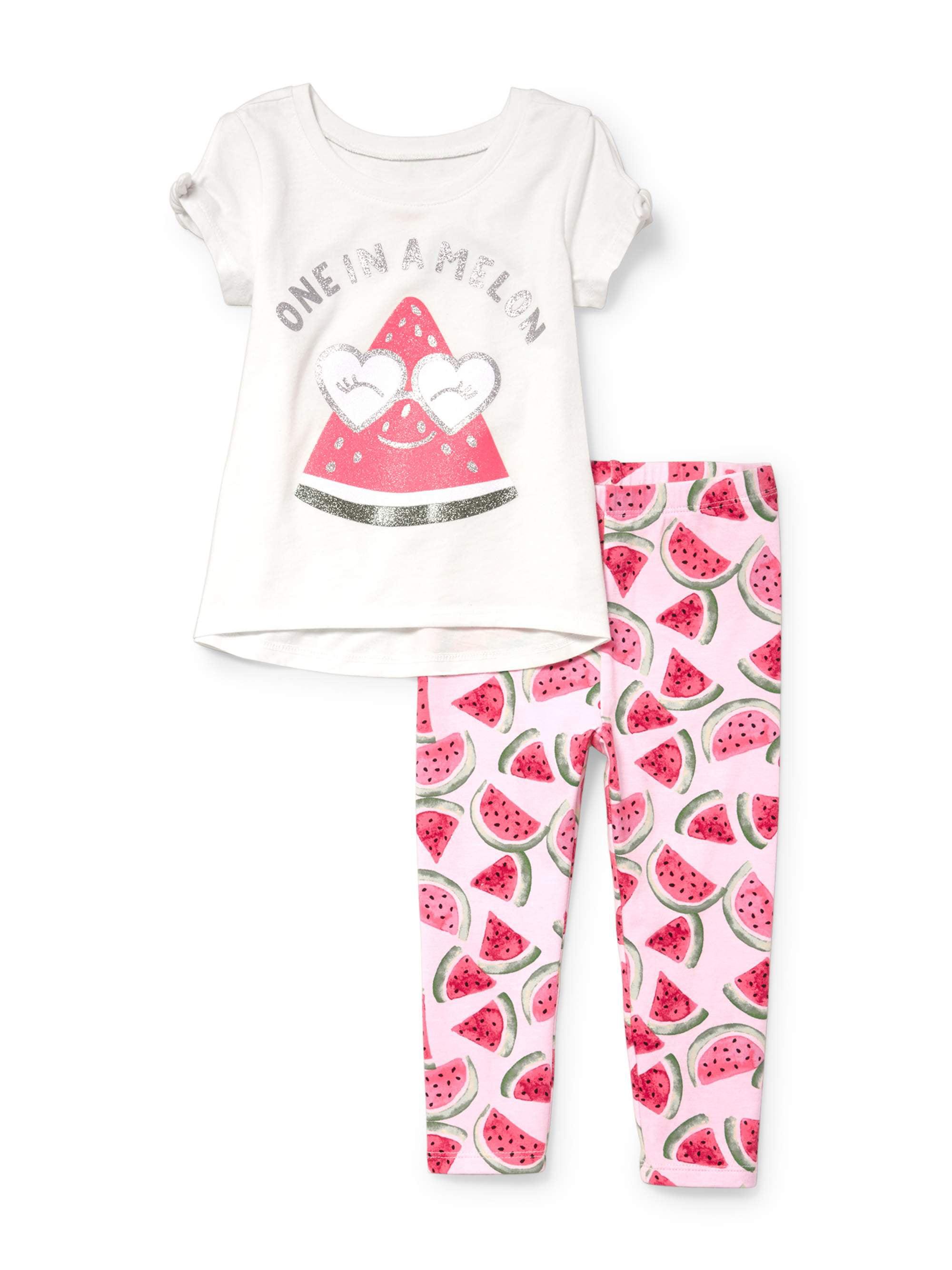 Watermelon Legging Set (Baby Girls & Toddler Girls)
