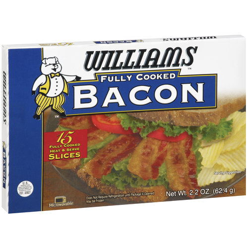 Williams Fully Cooked Bacon, 2.2 oz