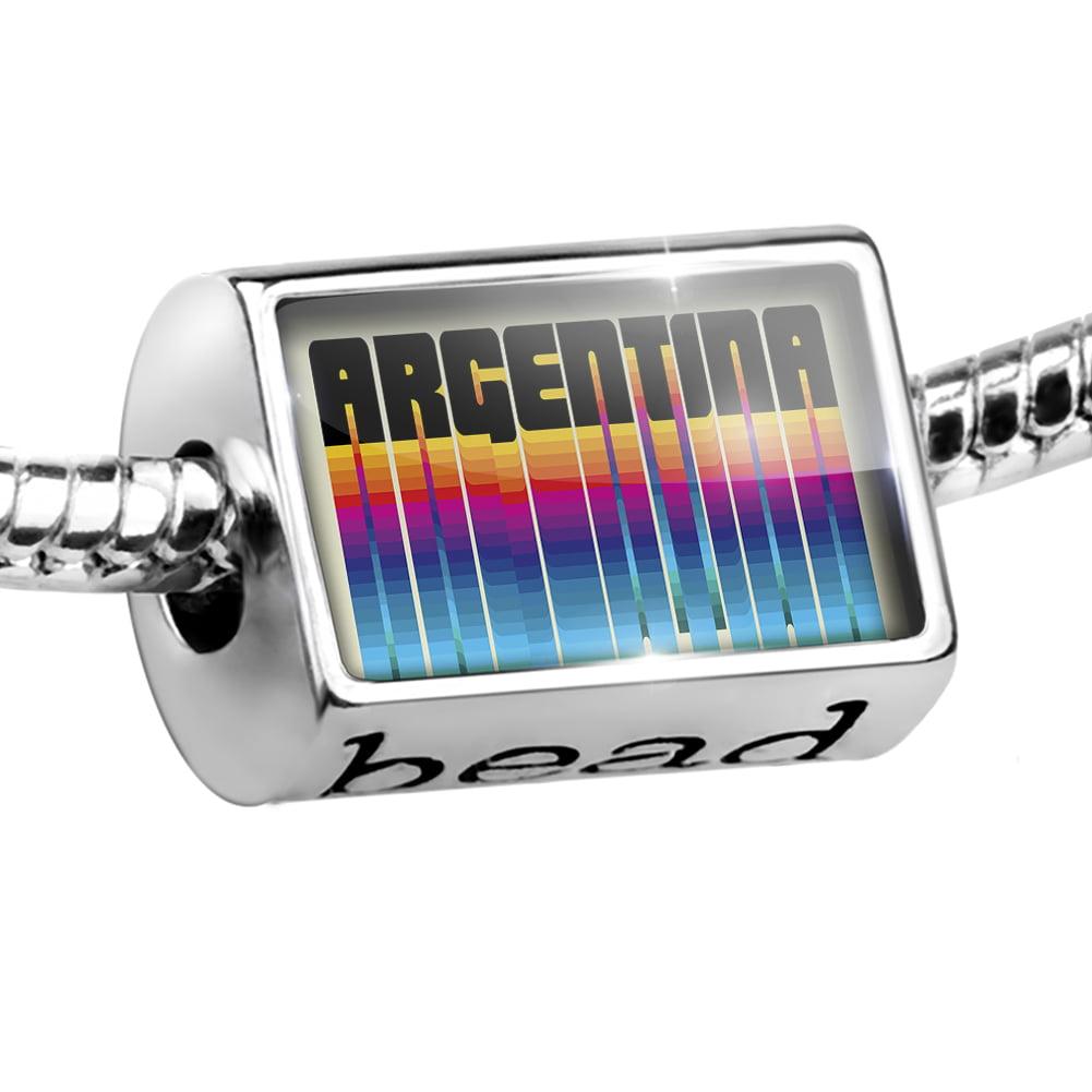 Bead Retro Cites States Countries Argentina Charm Fits All European Bracelets