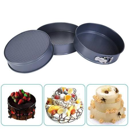 snorda Springform Pan Carbon Steel Baking Pan Non-stick Mini Cake Pan Non Stick Square Springform Pan