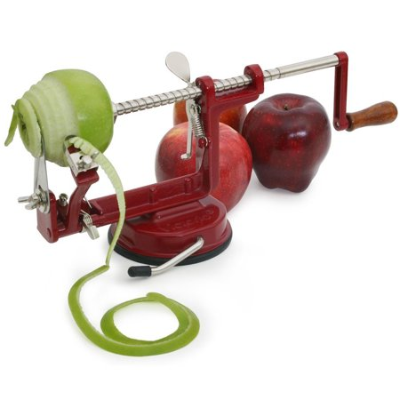 Johnny Apple Peeler, Cast Iron, Suction Base, Red, VKP1010