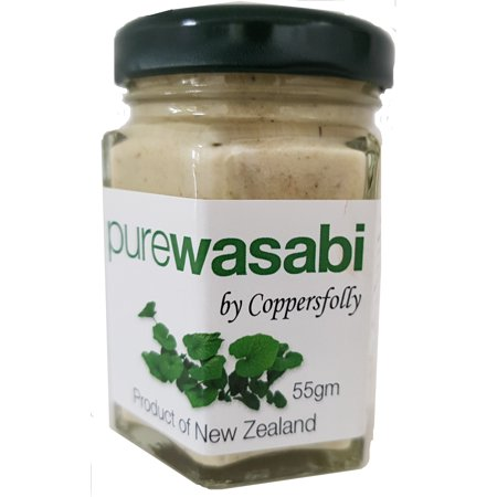 Wasabi - Pure and 100% Natural. 100% Wasabi Root - World's Finest for Making Sushi or Sashimi by mat or kit. Add to Rice or Seaweed. 55 grams