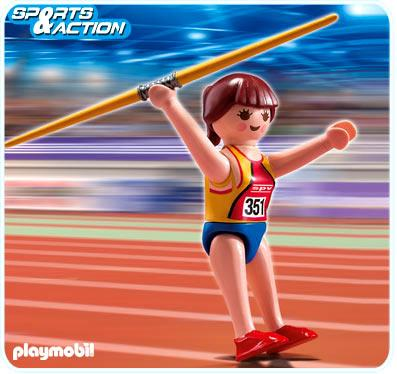High-Performance Athletes Javelin Thrower Set Playmobil 5201
