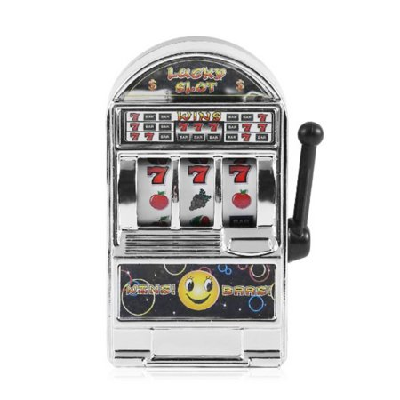 Mini Lucky Slot Machine Metal Anti-stress Toy Christmas Gift Gold ()