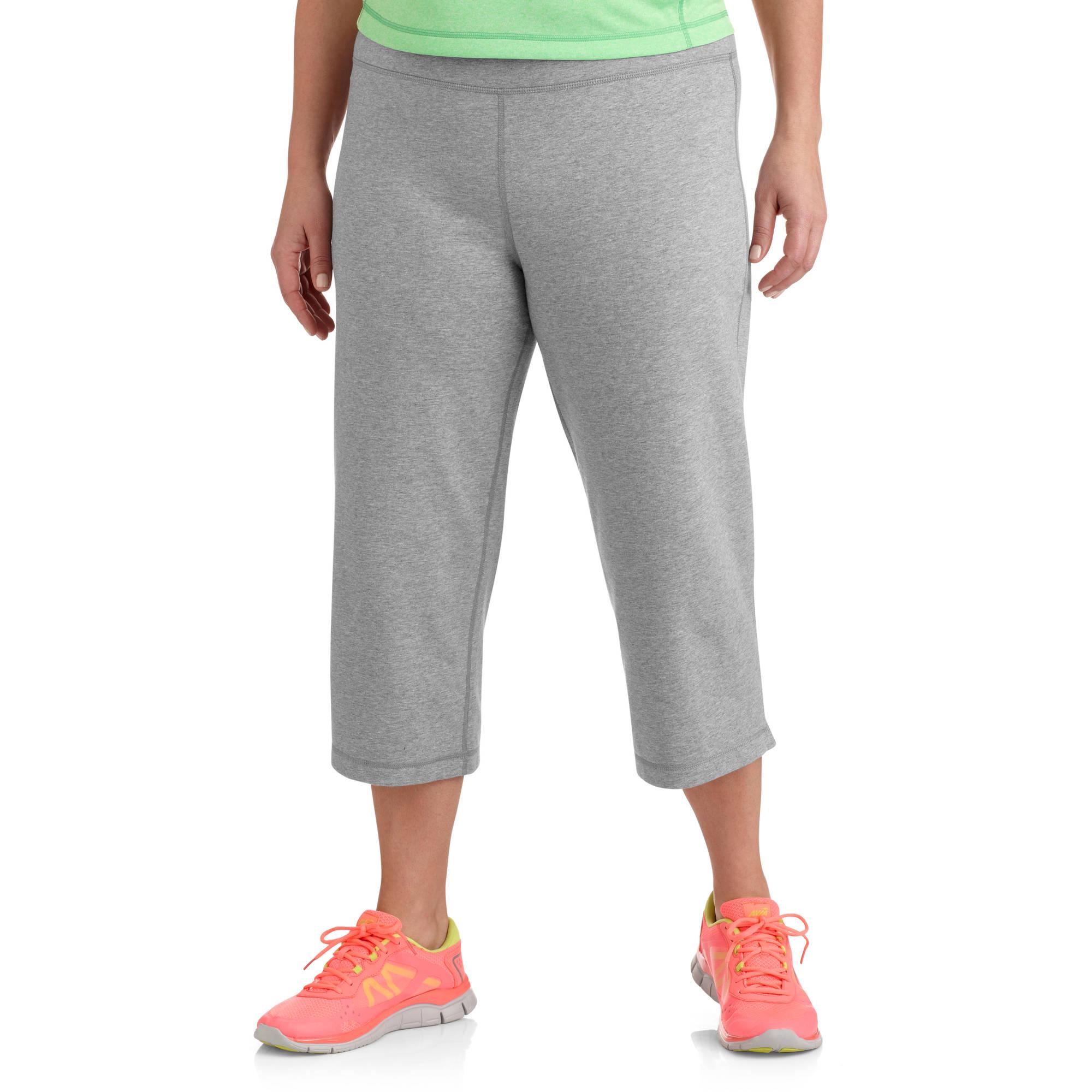 danskin now womens plus size dri more core capri pants - walmart