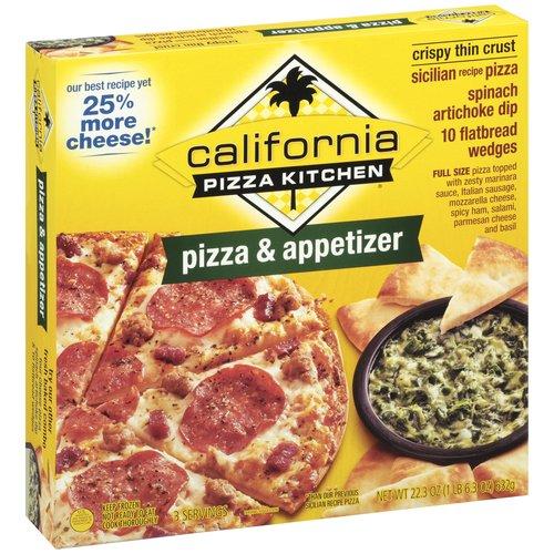 California Pizza Kitchen Sicilian Recipe Thin Crust Pizza & Spinach Artichoke Dip, 22.3 oz