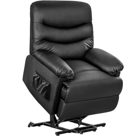 Merax Black PU Leather Power Recliner and Lift Chair Lifting Recliner ()