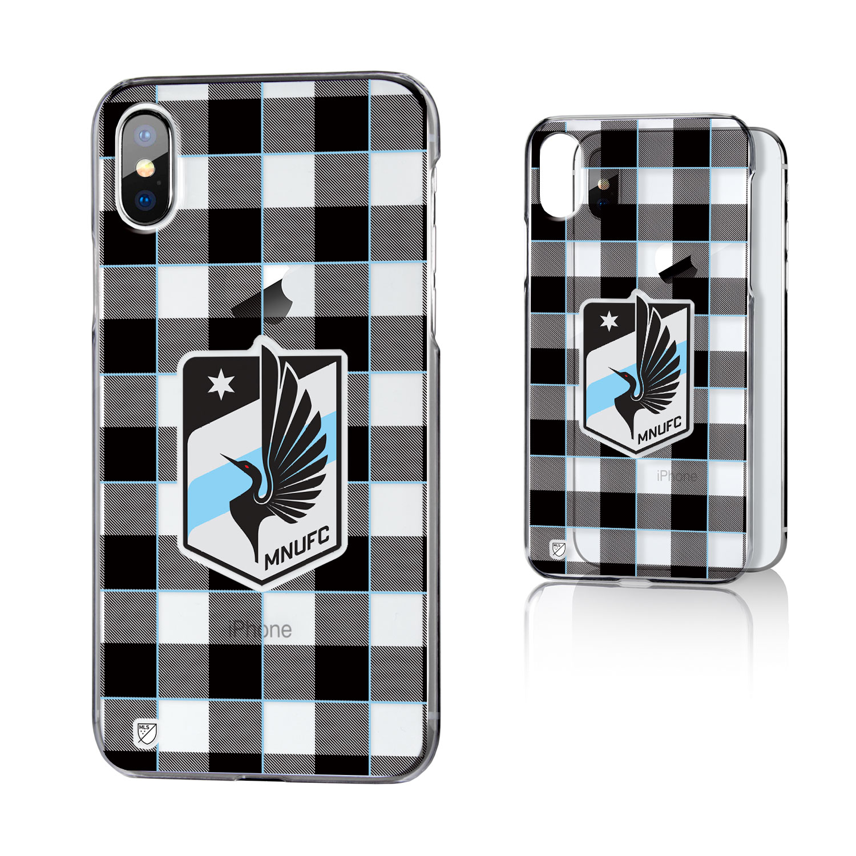 Minnesota United FC MNUFC Plaid Clear Case for iPhone X