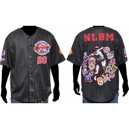 Big Boy Negro League Baseball All-Team Commemorative S5 Mens Jersey [Black - 2XL]