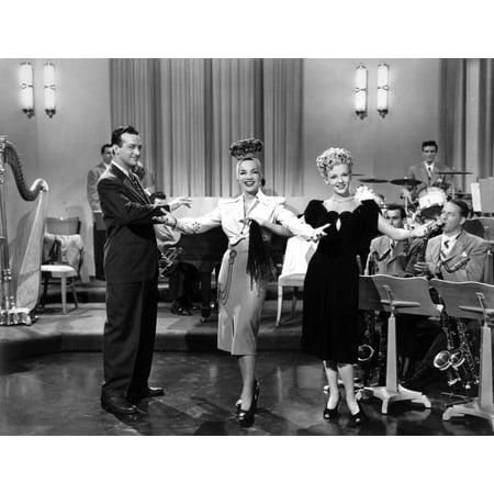 Harry James on stage with Carmen Miranda Photo Print (Carmen Miranda Costume)