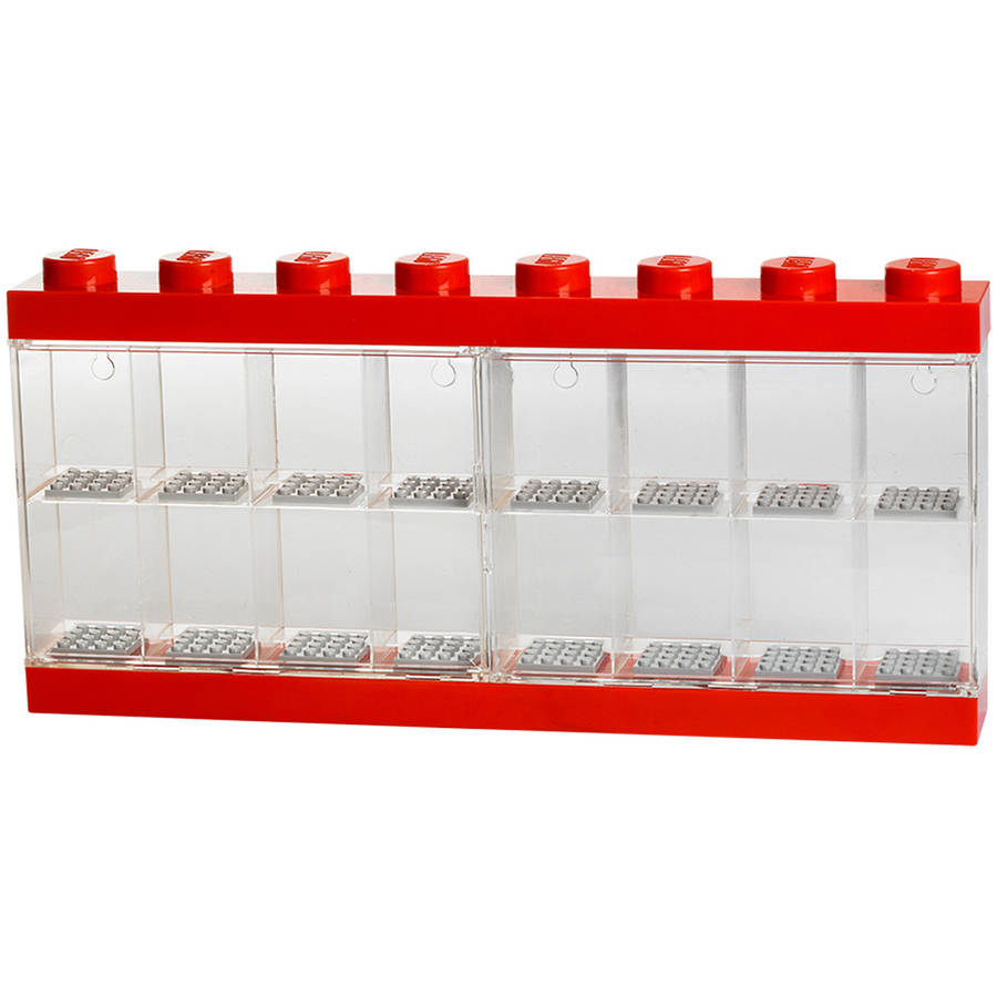 LEGO Minifigure Display Case 16, Bright Red