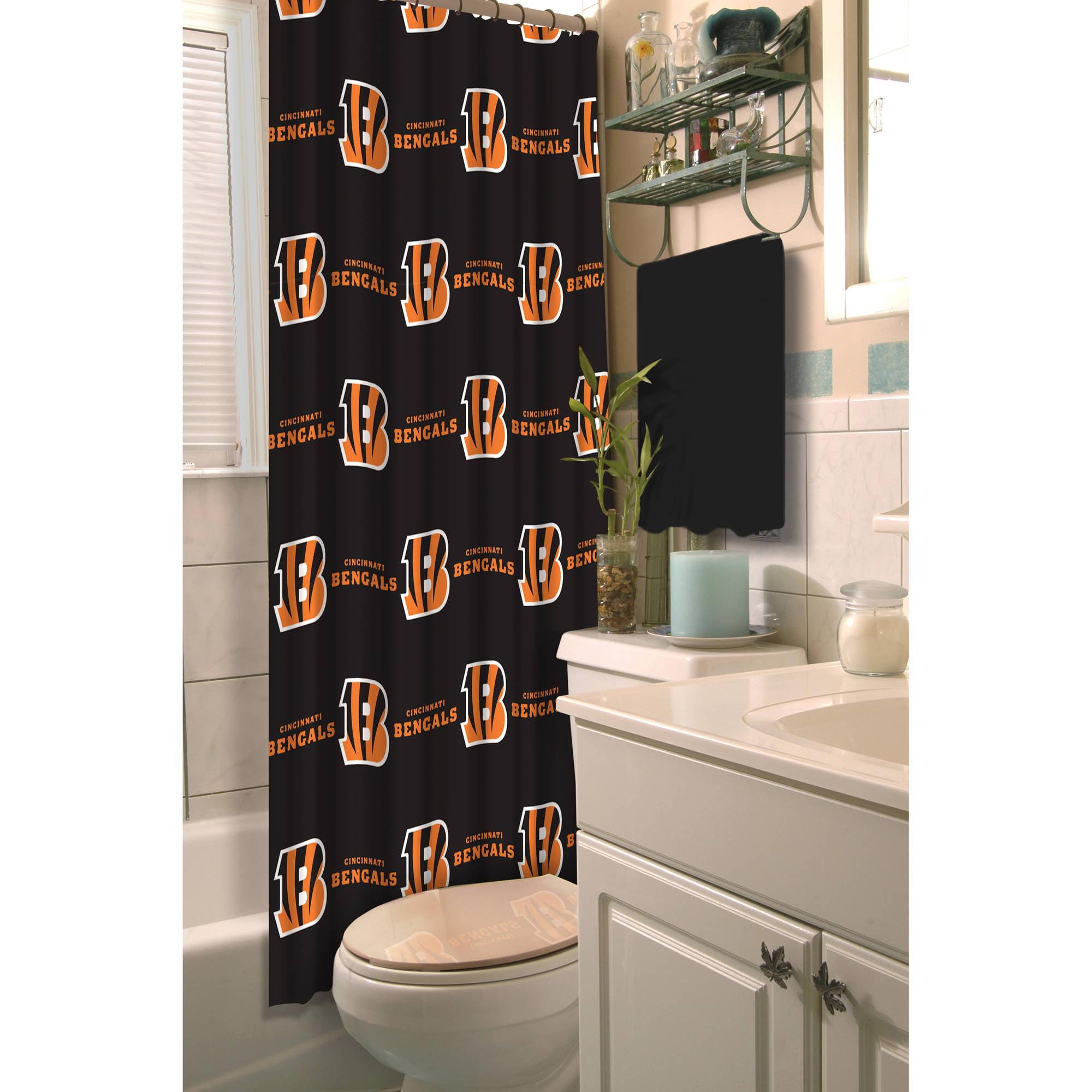 NFL Cincinnati Bengals Shower Curtain 1 Each
