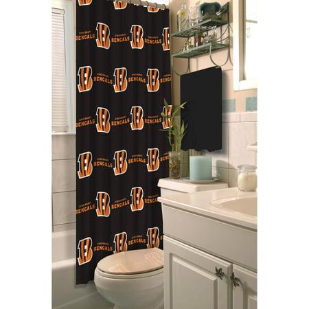 NFL Cincinnati Bengals Shower Curtain, 1 Each