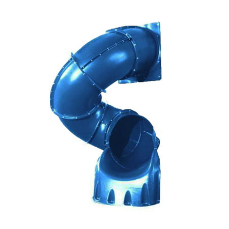 Swing-N-Slide Blue 5' Turbo Tube Slide Plastic Slide for 5 Foot Decks (Blue Turbo)