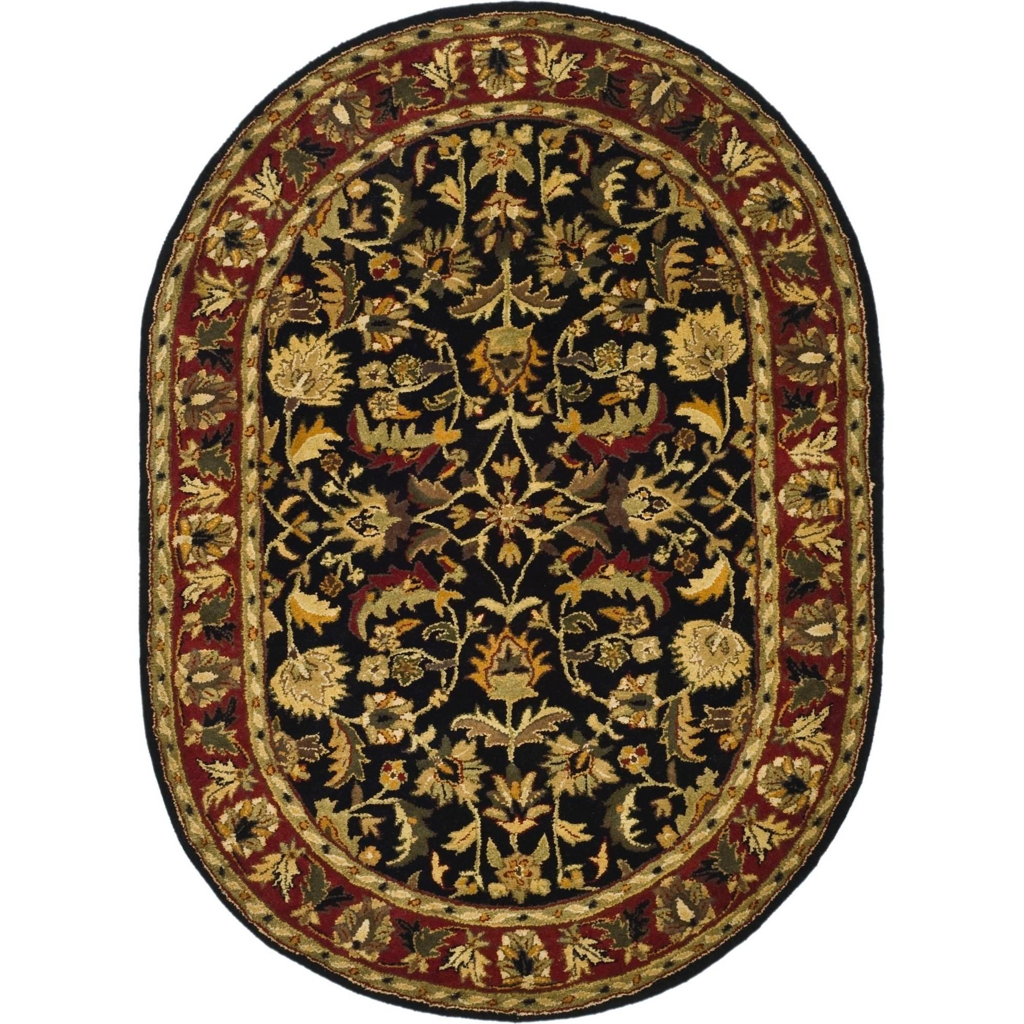 Safavieh Heritage Hepburn Hand-Tufted Wool Area Rug, Black/Red
