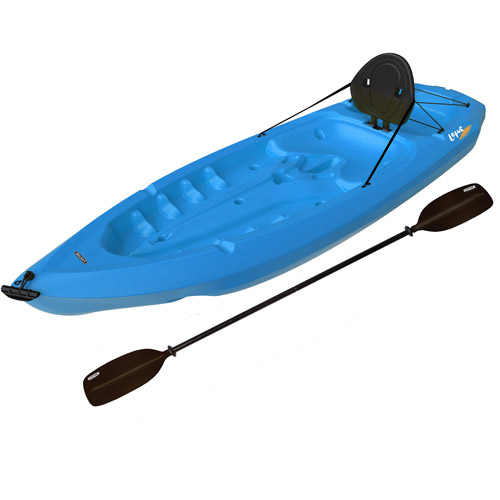 Lifetime, 8', 1-Man Lotus Kayak, Blue, with Bonus Backrest and Paddle