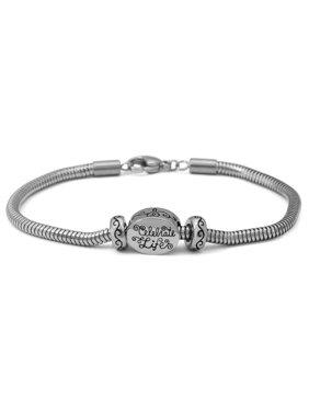4b2613778da67 Product Image Stainless-Steel Celebrate Life Starter Bracelet