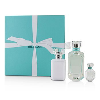 Essence Coffret (Tiffany Coffret: Eau De Parfum Spray 75ml/2.5oz + Perfumed Body Lotion 100ml/3.4oz + Eau De Parfum 5ml/0.17oz)