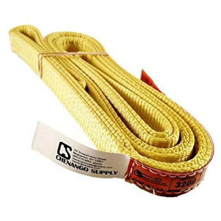 dd sling. multiple sizes in listing! (made in usa) 1 x 6', 2 ply, nylon lifting slings, eye & eye, heavy duty (900 webbing), 3,200 lbs vertical, 2,600 choker, 6,400