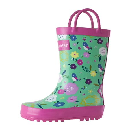 Oakiwear Kids Rain Boots For Boys Girls Toddlers Children, Green - Chuck Taylors For Girls