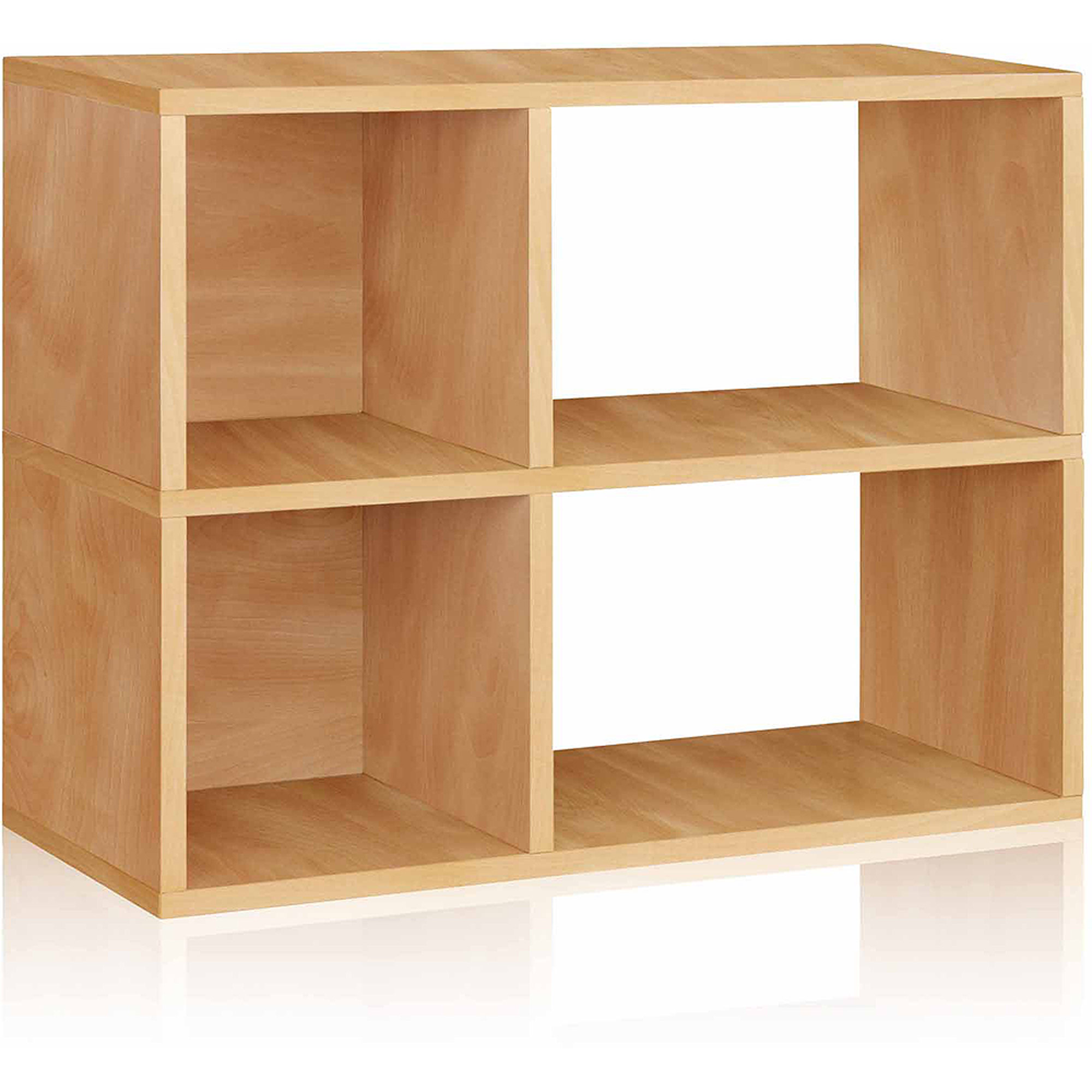 Way Basics Eco 2-Shelf Chelsea Bookcase and Cubby Storage, Natural